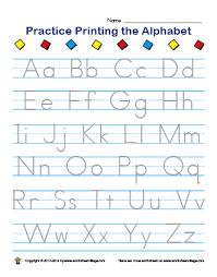 practice alphabet worksheet library