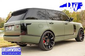 green range rover eric ebron matte green range rover u2014 dreamworks motorsports