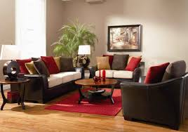living room decorating ideas dark brown leather sofa interior design