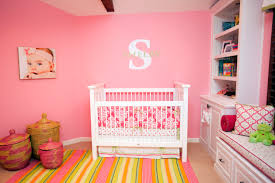 Girls Bedroom In Pink Yellow And Lime Green Design Reveal Bold And Bright U0027s Nursery