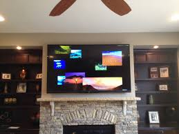 this is the after larger tv floating shelves sound bar mounted