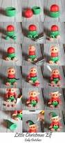 elf polymer clay christmas ornament decoration by clayinaround