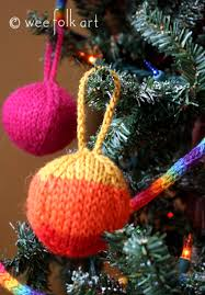 rainbow yarn ornaments wee folk