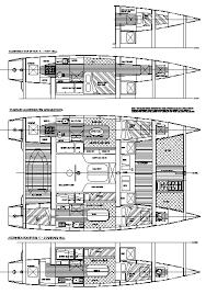 Catamaran Floor Plans Coral Cove 40 40 Ft Plywood Multi Chine Low Cost Cruising Catamaran