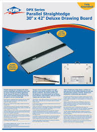 Drafting Table Cover Alvin Dpx Series Deluxe Board With Straightedge 30