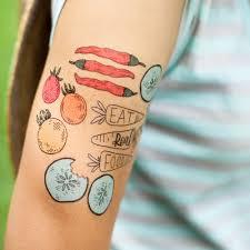 Temporary Tater Tats Temporary Vegetable Tattoos