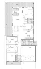 Floor Plan Modern House Affordable Home With Simple Lines And Shapes Three Bedrooms