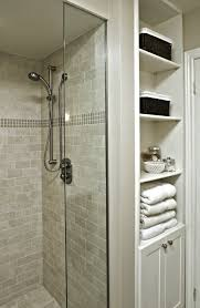 updated bathroom ideas updated bathroom linen closet exposed shelves new bathroom