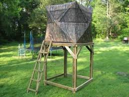 Deer Hunting Box Blinds Plans Photo Elevated Ground Blind Platform Field U0026 Stream Treehouse