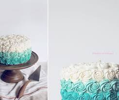 flourishing foodie turquoise rose cake and a wedding