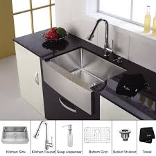 modern kitchen sink faucets decorating black granite countertop with stainless steel