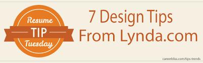 design expert 7 user manual resume tip tuesday 7 resume design tips from lynda com careerbliss