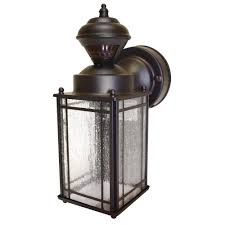 Outdoor Motion Sensor Light Home Depot - hampton bay shaker cove mission 150 degree outdoor oiled rubbed
