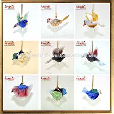 colorful shaped small clear flat glass ornaments birds buy