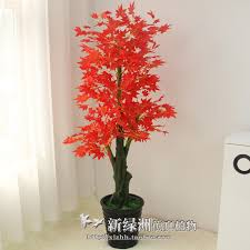 artificial flowers potted plastic tree fall flower plants