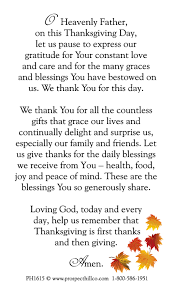 thanksgiving prayer festival collections