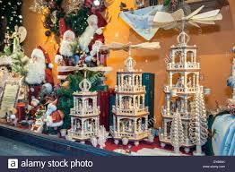 decorations in kathe wohlfahrt window display wooden