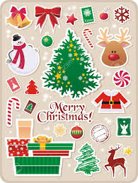 christmas stickers collection of christmas stickers for your design royalty free