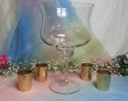 Big Glass Vases For Centerpieces by Tall Iridescent Glass Unity Candle Holder Flower Vase