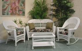 Outdoor Rattan Armchairs Modern Style White Outdoor Furniture Round Rattan Armchairs And