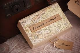 vintage twee map out your wedding journey vintage style