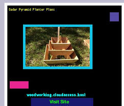 Woodworking Plans Bench Seat Cedar Pyramid Planter Plans 210633 Woodworking Plans And