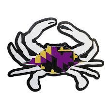 Calvert County Flag Small Maryland Crab Sticker Best Crab