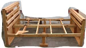 Build Wooden Bed Frame Wood Bed Frame Plan Bed Plan Diy Blueprint Build Wooden Bed