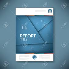 Report Cover Page Templates by Brochure Or Annual Report Cover With Abstract Background And