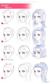 anime hairstyles tutorial hair tutorial drawing at getdrawings com free for personal use