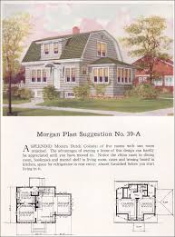 colonial revival house plans 1923 colonial revival gambrel roof no 39 a