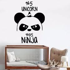 Vinyl Wall Decals For Nursery Vinyl Wall Decal Panda Nursery Unicorn Stickers