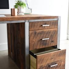 Modern Desks With Drawers Industrial Modern Desk 3 Drawer 1 Door What We Make
