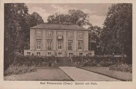 Bad Freienwalde Bad Freienwalde Oder Brandenburg Schloss Mit Park Zeno Org