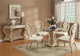 Round Glass Dining Sets Pueblosinfronterasus - Round glass top dining room table
