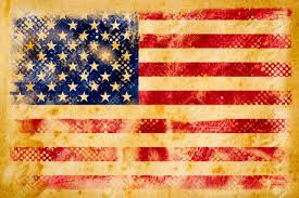 Vintage Flag Art American Flag Grunge On Old Vintage Paper Stock Photo Picture And