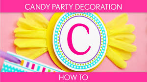 how to make decoration birthday candyland