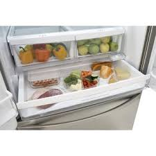 Stainless Steel Refrigerator French Door Bottom Freezer - kenmore elite 71053 27 6 cu ft french door bottom freezer