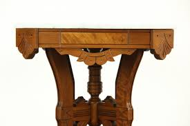 Victorian Coffee Table by Victorian Eastlake 1880 U0027s Antique Marble Top Walnut Lamp Or Parlor