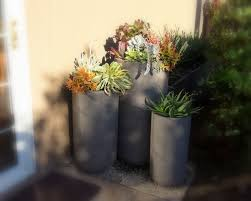 Large Succulent Planter Colorful Succulent Groupings In Tall Pots Gardenssss Com
