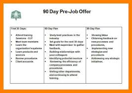 10 30 60 90 day plan template word time table chart