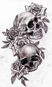 skull and roses drawing tattoos designs rosesskull and tattoos