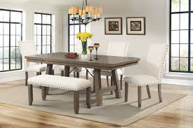 bench dining room table dearing 6 piece dining set reviews birch lane