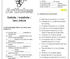 48 free mixed article worksheets