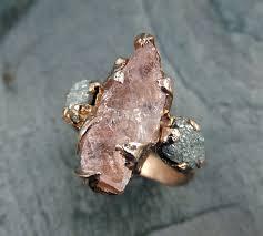 what is morganite morganite diamond gold engagement ring by byangeline