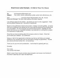 format for email cover letter