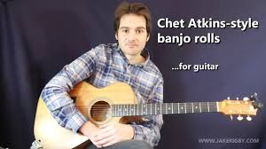 guitar lesson country chet atkins style banjo rolls and g7 lick