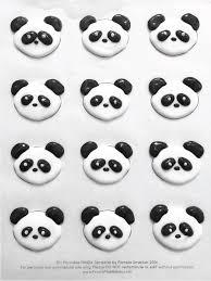 royal icing panda cupcake topper free printable template