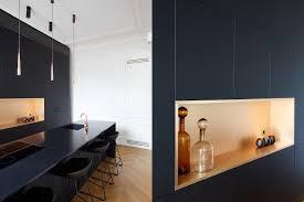 cuisine architecture cuisine rue argenteuil façade fenix noir mat cuivre