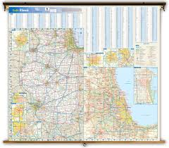 Illinois State Map Illinois State Reference Wall Map From Geonova